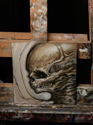 5×5 oil paint study